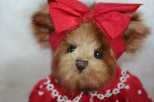 """BEARINGTON COLLECTION BEAR BEA MINE Valentine 13"""" Bear Red and White Retired"""