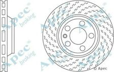 1 OE Quality Replacement Front Left Apec Vented Brake Disc 5 Stud 350mm Single