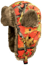 Camo Orange Aviator Trapper Hunting Hat Dakota Dan
