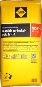 30kg Sakret Sockelputz MSP-L Unterputz Kelleraußenwandputz Wärmedämmputz