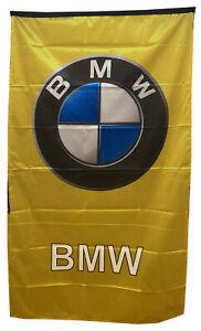 BMW-FLAG GOLD / YELLOW VERTICAL BANNER 5 X 3 FT 150 X 90 CM