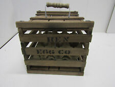 OLD VINTAGE WOOD-WOODEN FARM EGG CRATE BOX CRATE HEN EGG FARMS
