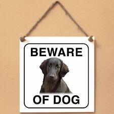Flat Coated Retriever Beware of dog Targa cane cartello ceramic tiles