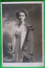 ROTARY PHOTO RP Postcard POSTED 1903 VIOLINIST MISS MARIE HALL