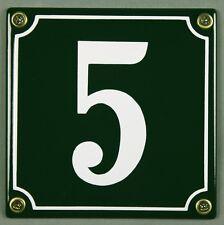 """Grüne Emaille Hausnummer """"5"""" 12x12 cm Hausnummernschild sofort lieferbar Schild"""