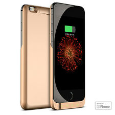 Gold 10000mAh PowerBank Rechargeable Protective Battery Case iPhone 6+ / 6s Plus