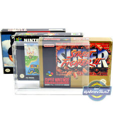 10 x SNES N64 Game Box Protectors for Super Nintendo 0.5mm Plastic Display Case
