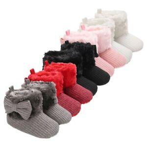 Weibliche Baby Baumwolle 0-1 Jahre Alt Winter Plus Samt Warme Verdicken Schuhe