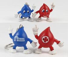 Tropfen === 2 x Werbefiguren Tröpfchen Trinkwasser + Rotes Kreuz