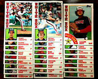 1984 TOPPS TIFFANY ~ CHICAGO WHITE SOX ~ LOT OF 26 VERY NICE CARDS