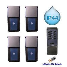 4 Funk-Steckdosen IP44 mit Fernbedienung Outdoor Außenschalter Schalter GP NEU