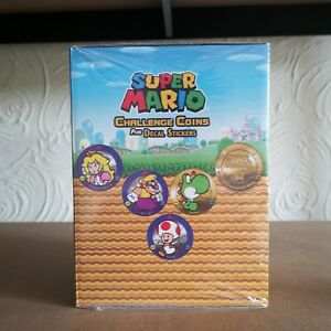 Super Mario Challenge Coin Display (24) Full Set Rare New Sealed