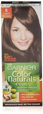 2 X Garnier Color Naturals 5 Light Brown Crème Riche Hair Color 29ml+16gm