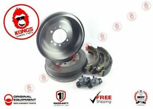 REAR BRAKE DRUMS + SHOES + WHEEL CYLINDERS PACK TOYOTA HIACE KDH200 KDH201 04-18
