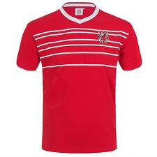 Wales Cymru FAW Official Gift Mens Retro 1976 / 1984 Football Kit Shirt Red