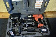 Ridgid Model Rp210 Propress Pressframe Crimper With 3 Pressframe Attachments