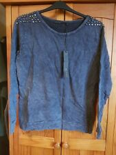 Ladies BNWT Crafted Grey Studded Jumper Size 12