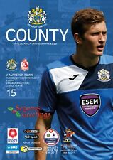 15 Stockport County V Alfreton Town 2017-18 National League North Programme