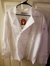 New Chef Works White Chef Coat Jacket Long Sleeve Cook