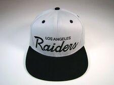 Los Angeles Raiders Snapback Hat Script Vintage Deadstock Gray Black Reebok