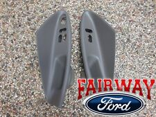 01 thru 04 Mustang Coupe OEM Door Window Switch Trim Panel Pair MED PARCHMENT