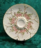 Serving Plate, Round, Hand Painted, Beautiful flowers and Leaves