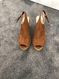 Karen Millen Sued Wedge Sandals