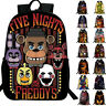"""Five Nights At Freddy's New Vibrant 16"""" Large Boys' School 3D Book Bag Backpack"""