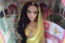Dolls Of The World Collector India Barbie Doll With Sticker, Stand & Passport