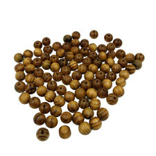 100x Natural Striped Wood Beads for Jewelry Making Charms Kids Crafts 10mm