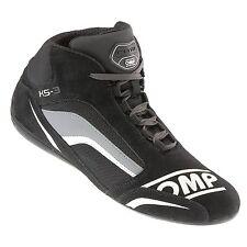 OMP Ks-3 Ks3 Kart Karting BOOTS Suede Leather in 3 Colours KARTWEAR 32 EUR Black/white/grey