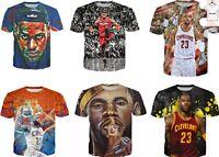 Lebron James 3D T-shirt Graphic Tee NBA MVP Cleveland Men Women Size S - 7XL
