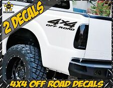 4x4 Truck Bed Decals, GLOSS BLACK (Set) for Ford Super Duty F-250, F-150 etc.