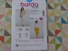 Burda 7236 Misses' skinny pants jacket pants suit sewing pattern sizes 6 thru 18