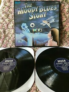 THE MOODY BLUES VINYL moody blues story LP x2 IMPORT 2LP COMPILATION Holland