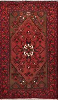 Geometric Hand-knotted Hamedan Tribal Area Rug Classic Home Decor Oriental 3'x5'
