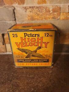 Vintage RARE PETERS Mallard Duck 12 Gauge Shotgun Shell Box (Empty)