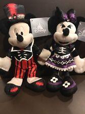 "2017 Halloween Disney Parks Mickey And Minnie Plush Doll  Set 9"" NEW"