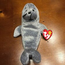 "TY Beanie Baby  ""Slippery"" the Seal  Gasport  1998 & 1999 - Retired  MINT Errors"