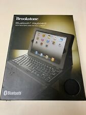 BROOKSTONE BLUETOOTH KEYBOARD WITH TECH-GRIP CASE FOR iPAD 2 TABLET