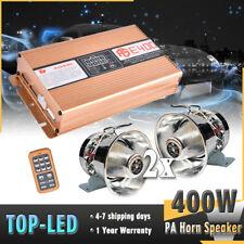 400w Loud Car Warning Alarm Police Fire Siren Horn PA Speaker Mic System Sound