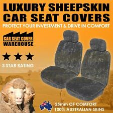 *NEW* TOP QUALITY SHEEPSKIN CAR SEAT COVERS TC 25mm AIRBAG AVAILABLE 5 COLOURS