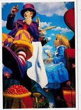 GREG HILDEBRANDT ALICE IN WONDERLAND Mad Hatter hare Tea time modern postcard