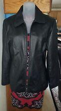 NW/OT Esprit Black Leather Jacket Size Medium