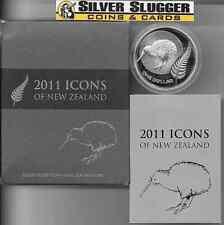 (1) 2011 New Zealand Kiwi 1 oz silver proof coin