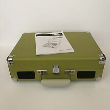 Crosley Portable Turntable Retro Green AUX Record Player Built In Speakers