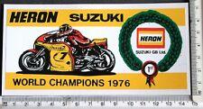 Heron Team Suzuki World Champion 1976 sticker      14