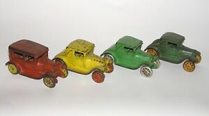 """Lot of (4) Arcade Cast Iron Ford Model A for Car Carrier 5"""" DAKOTApaul"""