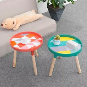 Small Fresh Mini Coffee Tables Cafe Basse Wood Low Desk Round Room Home Decorati
