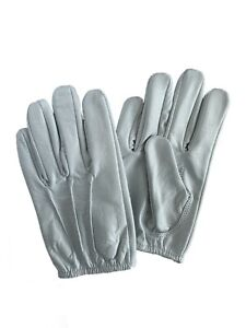 Men's Genuine Leather Police Gloves Patrol Search Thin Smart Fit Cosmetic Defect